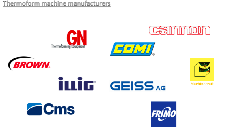 thermoforming machine brands.