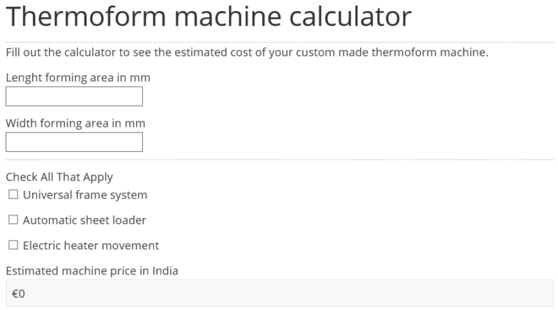 thermoform machine price